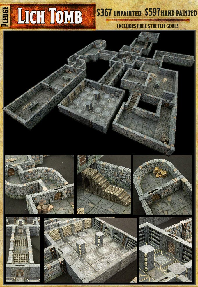 photo about 3d Printable Dungeon Tiles referred to as Tech Tuesday: RPG Kickstarter Rampage Dungeon Seamless